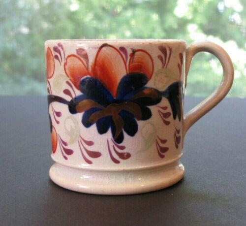 Antique Pearlware Copper Lusterware Child