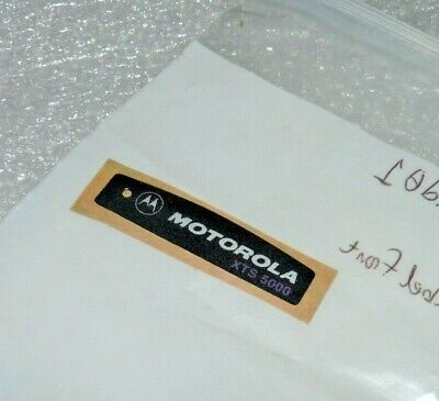 Motorola Solutions 3385221d01 Front Label Sticker For Xts5000 Portable Radio New