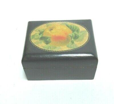 ANTIQUE MAUCHLINE BLACK FRUIT TRANSFER WARE   BOX LOVELY GIFT BOX