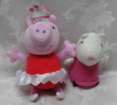 """Fisher Price Mattel Peppa Pig Mummy Queen Astley Baker Davies 9"""" Soft Stuffed"""