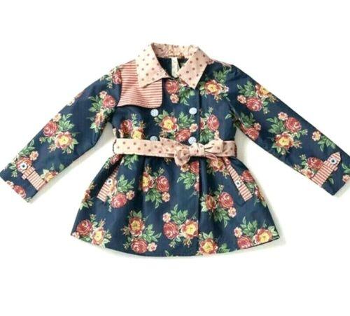 NWT Girl's Size 6 Matilda Jane Down Came The Rain Raincoat Jacket Coat
