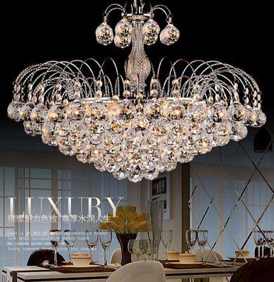 New Crystal Chandelier Modern Elegant Pendant Lamp  Ceiling Fixture 3 Lighting B