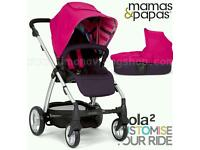 Mamas and Papas pink Sola 2 travel system