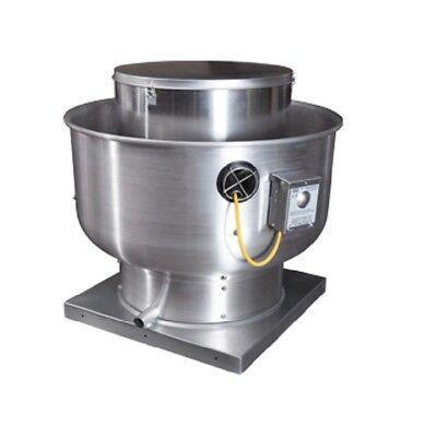 Captiveaire Du33hfa .33hp1ph Kitchen Centrifugal Upblast Directdrive Exhaust Fan
