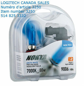 Nokya Arctic White Halogen HB4 Headlight Light Bulbs 7000K 80W 9