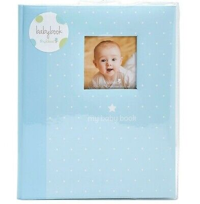 MY BABY FIRST MEMORIES BOOK - TINY IDEAS BOYS BLUE DOTS - KEEPSAKE RECORD ALBUM ()