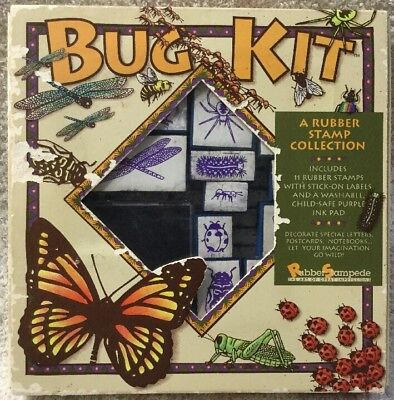 Bug Kit Insect Butterfly Nature Ant Rubber Stamp Craft Scrapbook Tool Lot BX34