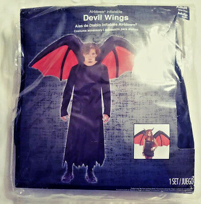 AIRBLOWN INFLATABLE DEVIL WINGS HALLOWEEN COSTUME ACCESSORY ADULT ONE SIZE  (Devil Wings Halloween Costume)