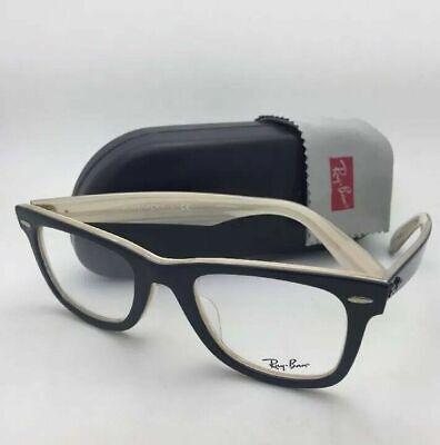 Iconic New RAY-BAN WAYFARER Eyeglasses RB 5121F 2464 50-22 Black on Horn (Iconic Glasses Frames)