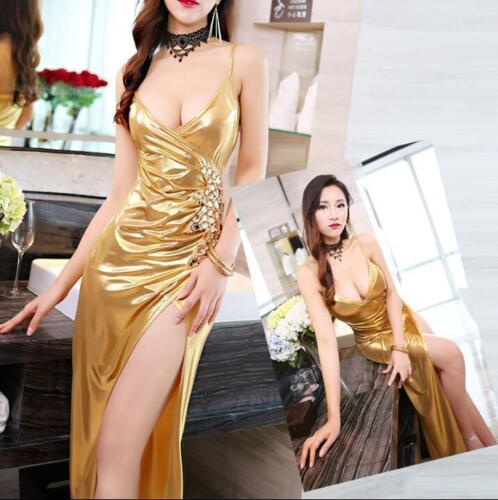 Купить Unbranded - Womens Party Sexy Dress Rhinestones Split Ball Gown Sleeveless Plus Hot