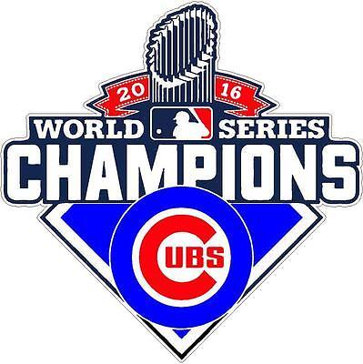 Chicago Cubs World Series 2016 Champions Vinyl Decal Sticker 4