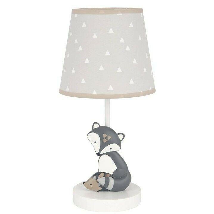Lambs & Ivy Little Rascals Bedtime Originals Lamp with Shade & Bulb Fox Hedgehog