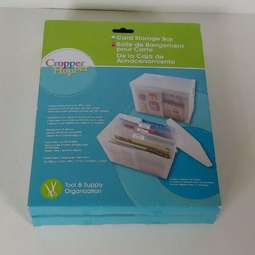 ONE Cropper Hopper Card Storage Box - Tool & Supply Organization - Plastic Case