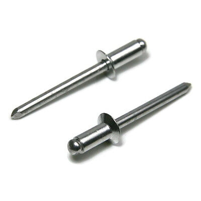 Countersunk Aluminum Rivet - POP Rivets ALL Aluminum 54C 5/32 x 1/4 Grip Countersunk Head USA Made Qty 100