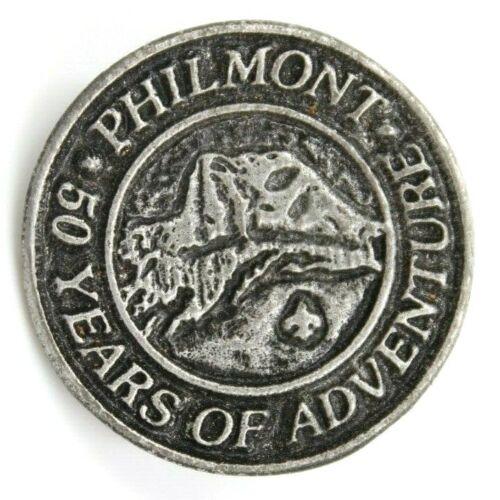 "1989 Philmont 50 Years Hiking Staff Medallion Shield Boy Scouts BSA NM 1 1/8"""