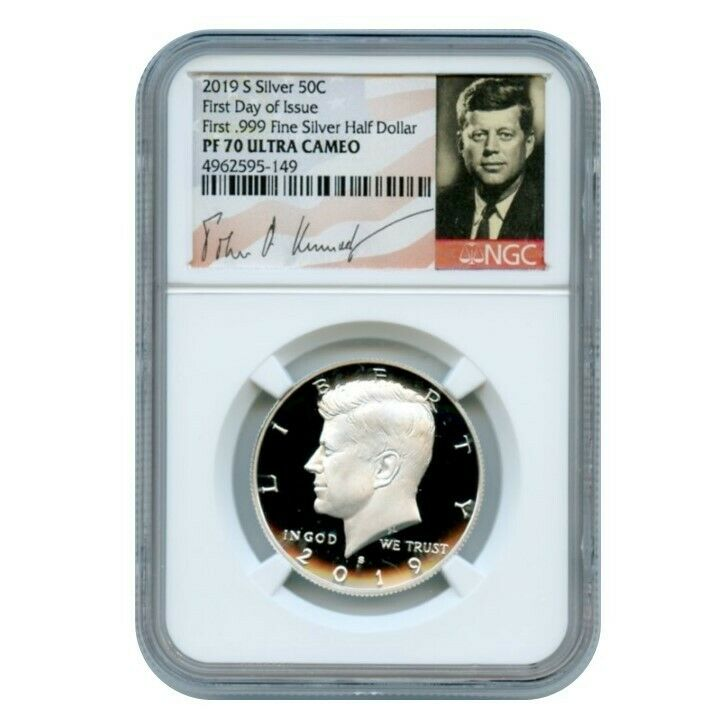 2019 S Silver Kennedy Limited Edition First Releases NGC PF70 UC Portrait