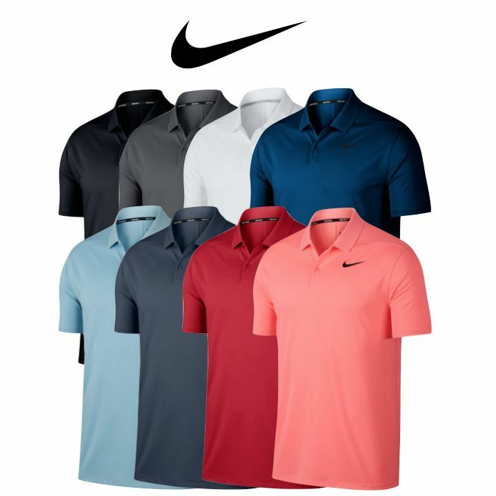 63a658428 2019 MENS NIKE GOLF Dri-Fit VICTORY SOLID Polyester Polo SHIRT