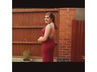 Burgundy Prom dress size uk 10/12