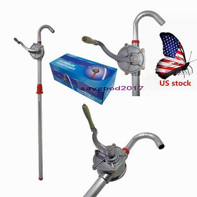Us Self-priming Hand Pump Dispenser Rotary Crank Alloy For Fuel Gas Oil Water