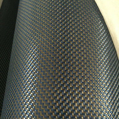 Carbon Fiber Blue Made With Kevlar Cloth Fabric W Weave 40 3k 5.9oz 200gsm