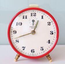 "Red Vintage Mantel ""KIENZLE DUO"" GERMANY Alarm Clock Wind ..."