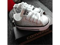 Infant glitter converse (size 2) (immaculate condition) wore twice