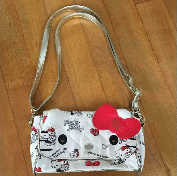 Used Sanrio Hello Kitty 40th Anniversary Mini Shoulder Bag white Japan Limited