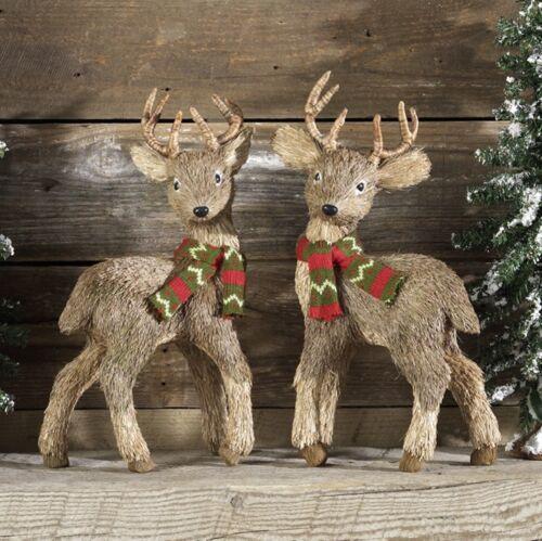 "NEW~RAZ Imports~15"" Reindeer/Deer Christmas~Set 2~Use tree/wreath/ornament/brown"