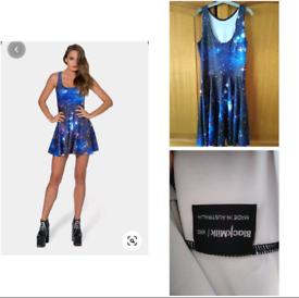 Black Milk Clothing Blue Galaxy Skater Dress