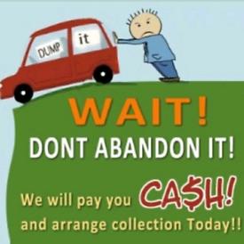 Scrap cars Van's 4x4 pickups wanted 7