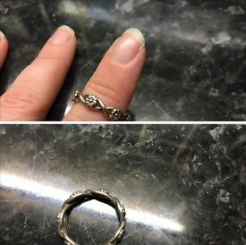 Sterling silver ring small