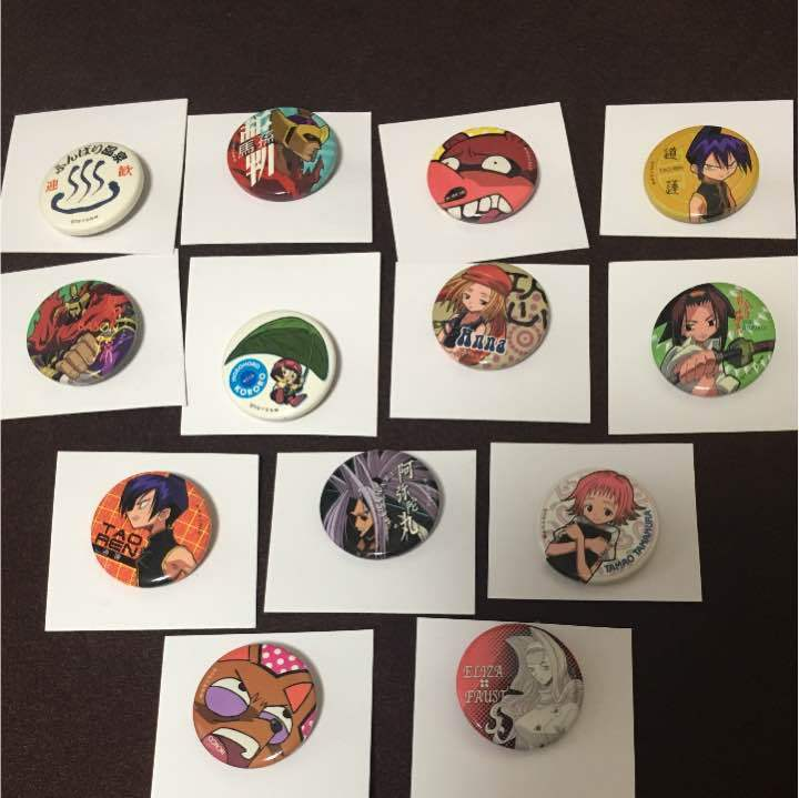 Shaman King can badge 13 pieces