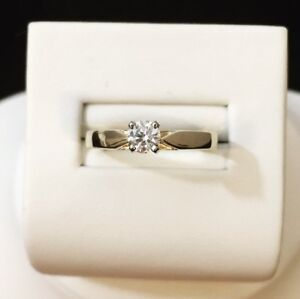 14K Gold Diamond Solitaire Engagement Ring / Priced super low !