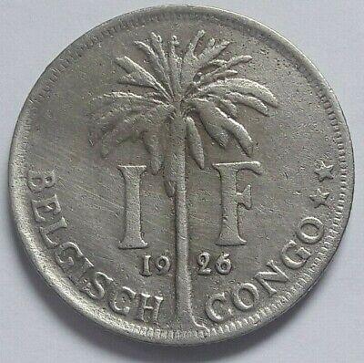 1 Franc 1 Frank Belgisch Congo belge Albert I 1926
