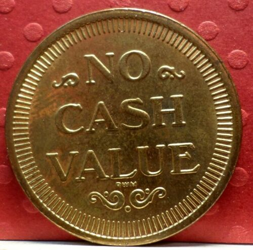 Car Wash Token No Cash Value Token T-162