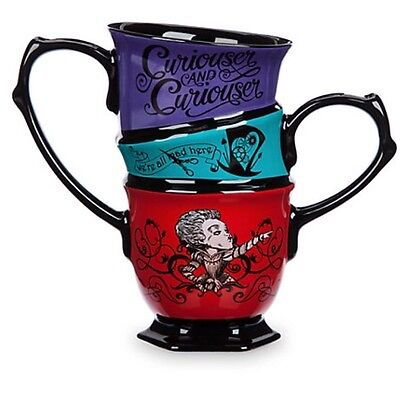 Disney Alice In Wonderland Topsy Mug Tea Cup Double Cheshire Cat Mad Hatter