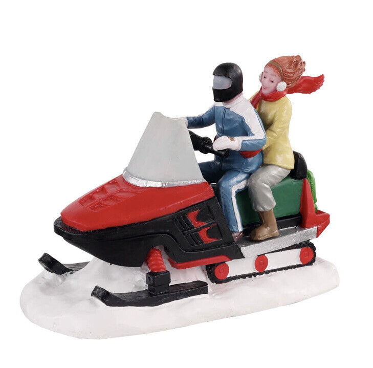 Lemax Off Trail Adventurers  Snowmobile Holiday Village /Train /Carnival  2021