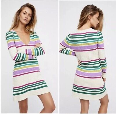 NWT Free People Sweater Dress Size XS Gidget Knit Cable New