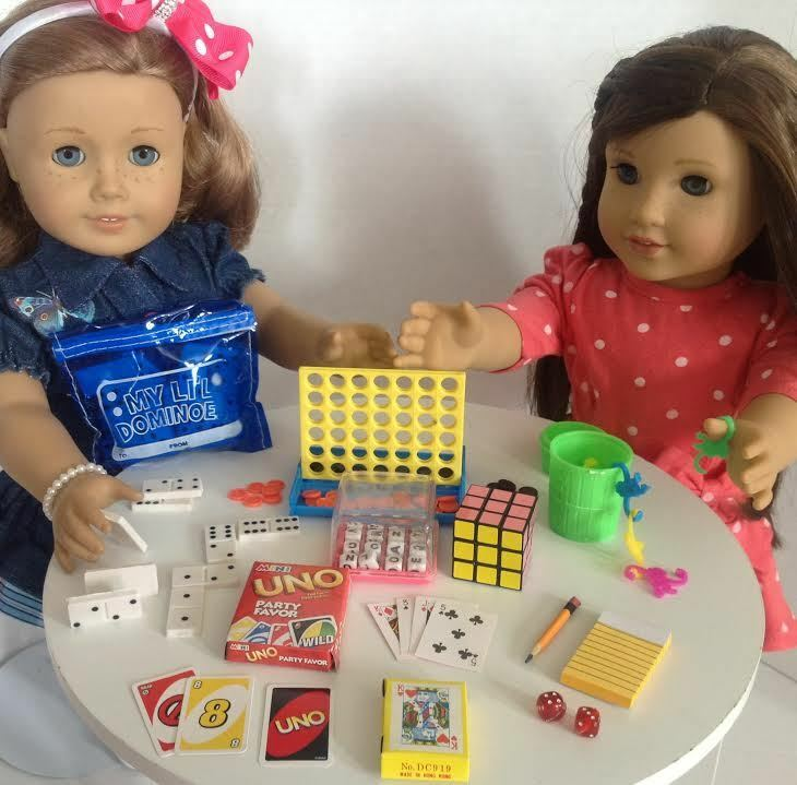 "Mini Game Night for American Girl Dolls 18"" Doll Accessories Fits Playable SET"