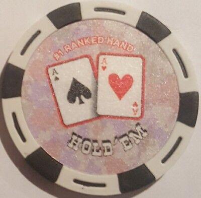 3pc 3 colors BEST HANDS AA QQ KK poker chips samples set #127