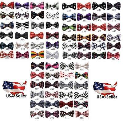 Bow Tie Tuxedo (BOW TIE MENS ADJUSTABLE ASST PATTERNS WEDDING TUXEDO NECKTIE US SELLER Free)