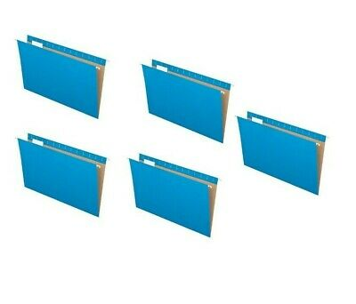 New 5 Folders Pendaflex Recycled Hanging Folder Legal Size Blue 15 Cut 81623