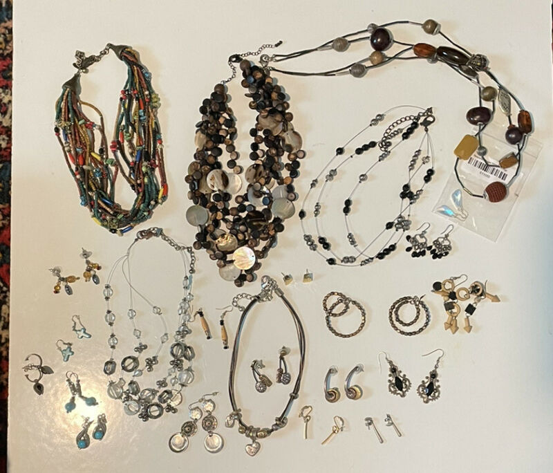 Lot of Chicos Jewelry Plus Other Brand Necklaces Earrings 1 Chicos Cat Necklace