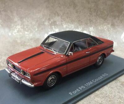 NEO 1/43 Scale Resin Model Ford P6 15M coupe RS red