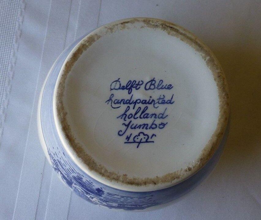 Vintage Large Delft Blue Handwork Porcelain Crocus Bulb Planter Made In Holland - $18.95