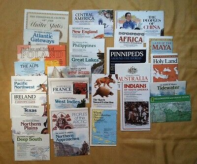 Vintage 1980s Lot Of 29 National Geographic Maps