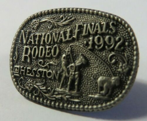 Vintage 1992 National Rodeo Finals Hesston HAT LAPEL PIN New Old Stock