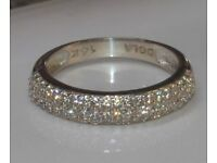 ** STUNNING 14 CT ,SOLID WHITE GOLD 0.81CT ROUND CUT DIAMOND RING FOR SALE **