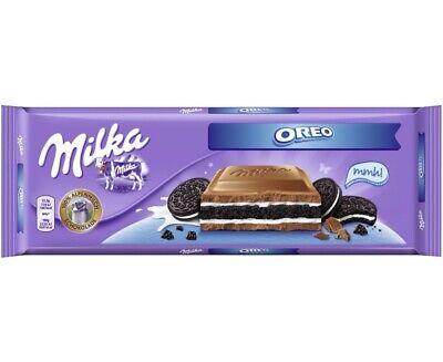 Milka Oreo Schokolade aus Creme mit Vanillegeschmack und Oreo-Keks 300g 3er Pack (Oreo-schokolade)