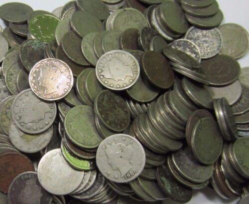 (20) Liberty V Nickel Lot // 1800